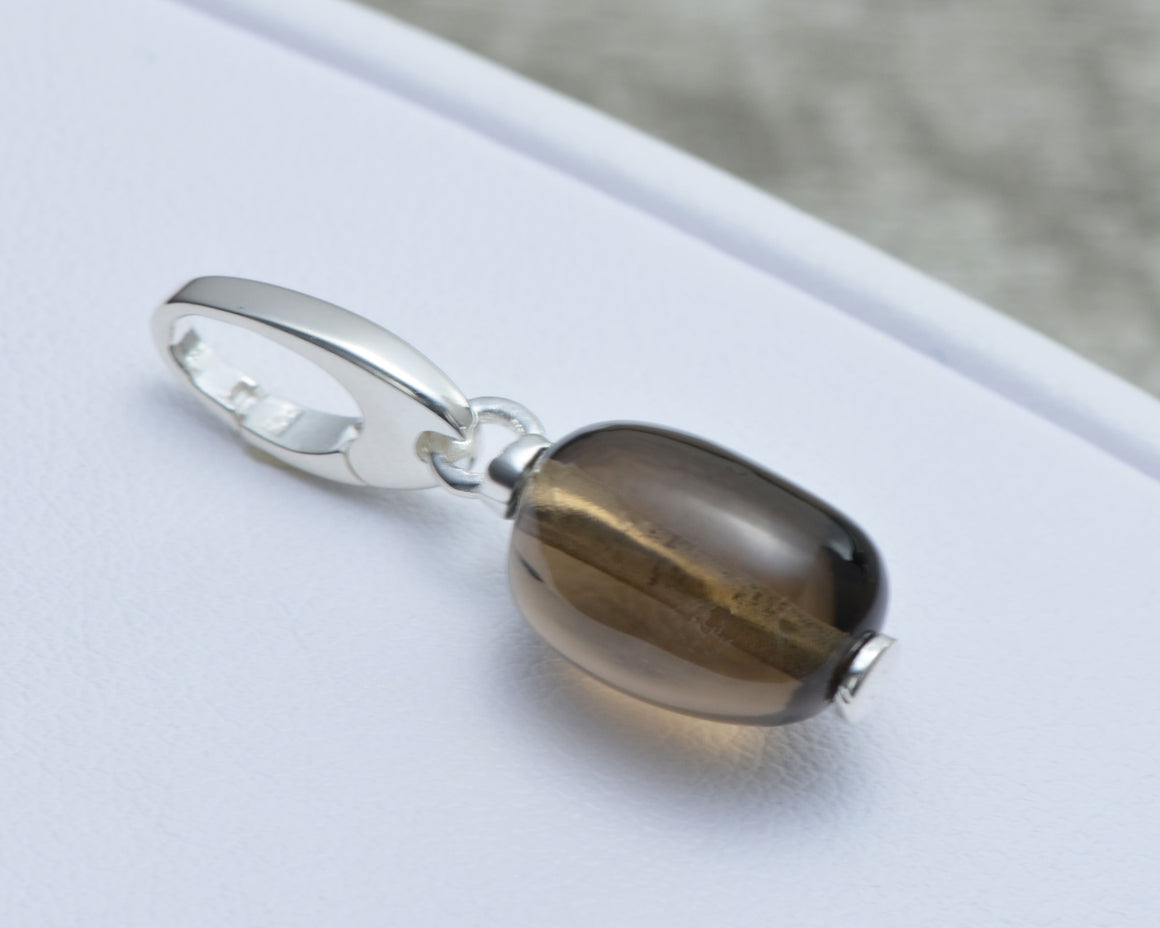 SMOKY QUARTZ CHARM