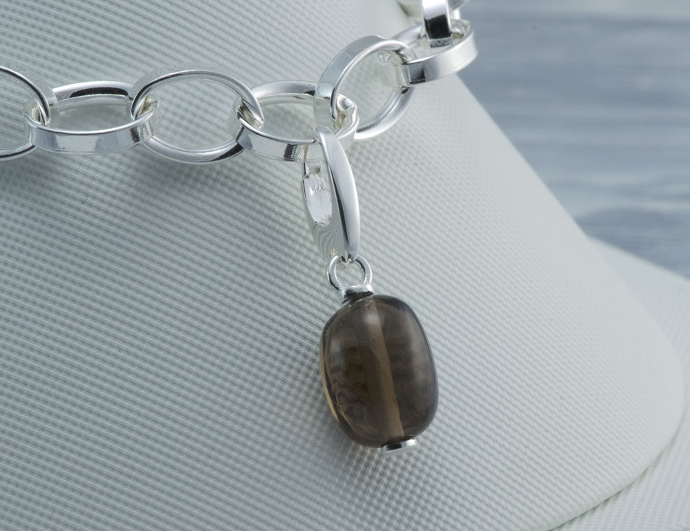 Smoky Quartz Gemstone Charm