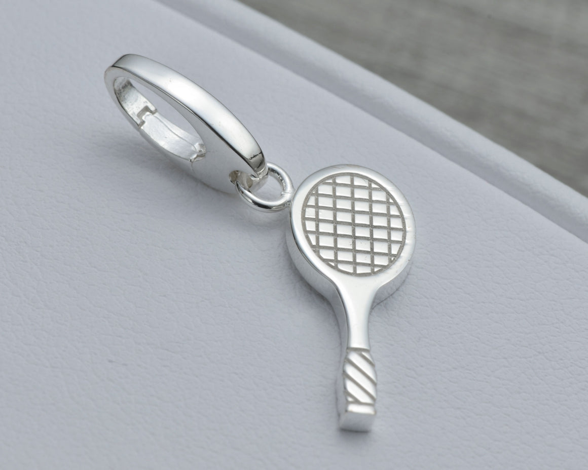 TENNIS CHARM IN STERLING SILVER
