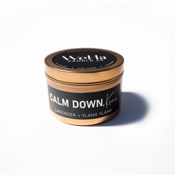 """CALM DOWN, Karen"" Humor Tin  