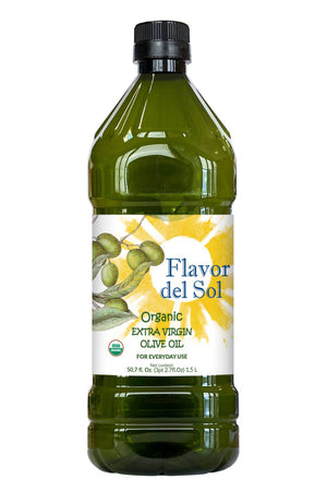 Load image into Gallery viewer, Flavor del Sol Organic Extra Virgin Olive Oil Spanish Blend 50.7 Fl Oz