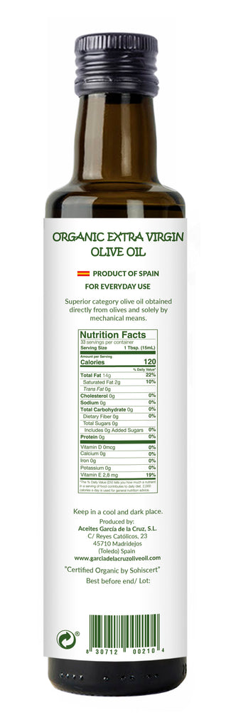 Load image into Gallery viewer, Flavor del Sol Organic Extra Virgin Olive Oil Spanish Blend 8.5 Fl Oz