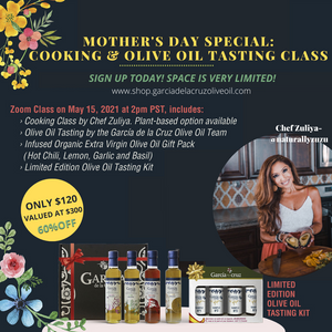 Load image into Gallery viewer, MOTHER'S DAY SPECIAL: COOKING +OLIVE OIL TASTING CLASS