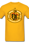 Spartan Warrior, Patrick Henry, Give me Liberty or Death, black, red, & white logo, t-shirt - gold