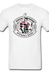 Spartan Warrior, Patrick Henry, Give me Liberty or Death, black and red logo, t-shirt - white
