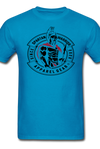 Patrick Henry, Give me Liberty or Death, Spartan Warrior red & black logo, t-shirt - turquoise