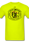 Patrick Henry, Give me Liberty or Death, black, Spartan Warrior red and black logo, t-shirt - safety green