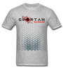 Spartan warrior apparel front and back logo - heather gray