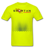 Spartan warrior apparel front and back logo - safety green