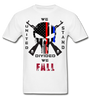 UNITED WE STAND DIVIDED WE FALL SPARTAN APPAREL TSHIRT - white