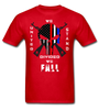 UNITED WE STAND DIVIDED WE FALL SPARTAN APPAREL TSHIRT - red