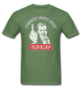 Contact trace this CHUMP, Vintage 70's cartoon, tshirt - military green