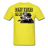 Dont Tread on Me Snake & Soldier - Spartan Warrior t-shirt - yellow