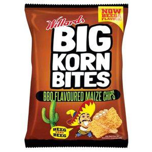 Willards Big Korn Bites BBQ 120g-Chips-South African Store London