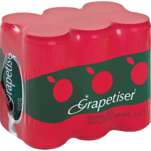 Grapetiser Red 6x330ml Can-Colddrinks-South African Store London