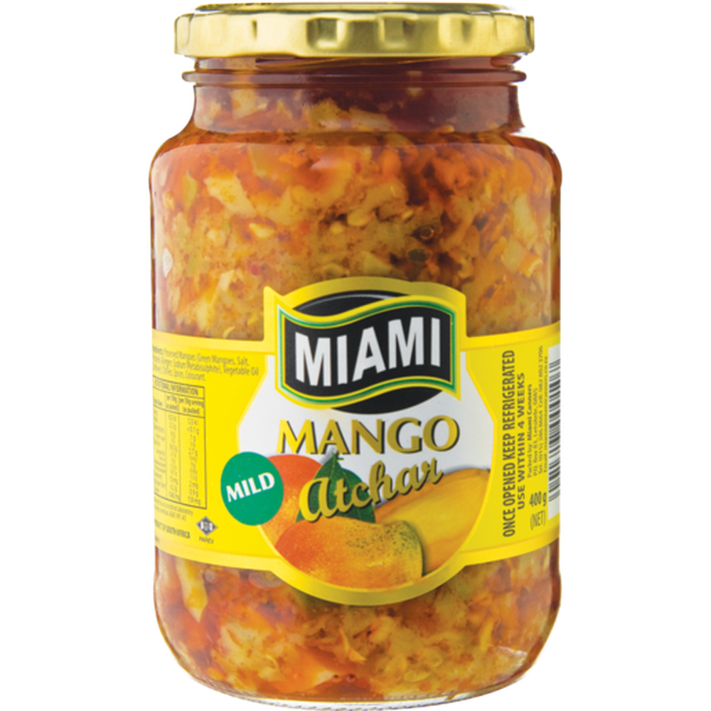 Miami Mango Atchar 400g-Tin, Bottle Products-South African Store London