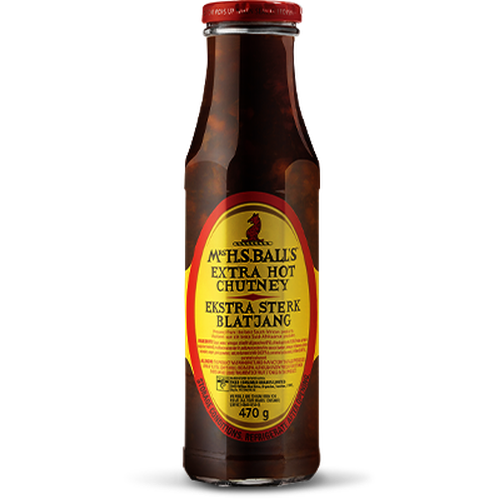 Mrs Balls Extra Hot Chutney 470g-Spices, Sauces, Curry Powder-South African Store London