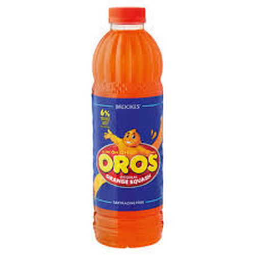 Brookes Oros Orange Squash 1Lt-Juice, Mixes-South African Store London