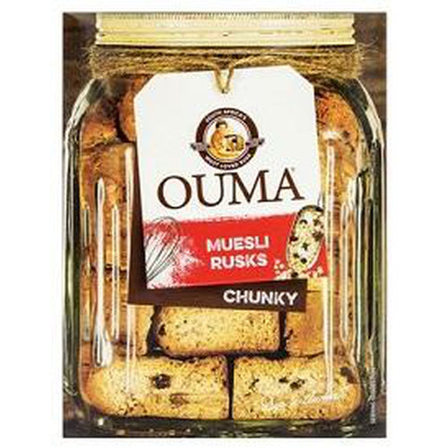 Ouma Muesli Rusks Chunky 500gr-Rusks, Biscuits-South African Store London