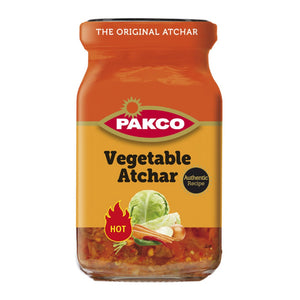 Pakco Hot Veg Atchar 385g-Tin, Bottle Products-South African Store London