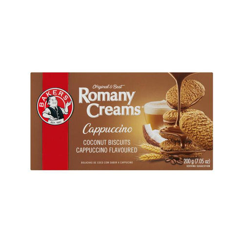 Bakers Romany Cream Cappuccino 200g-Rusks, Biscuits-South African Store London