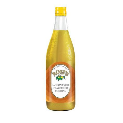 Roses Passion Fruit Cordial 750ml Bottle-Juice, Mixes-South African Store London