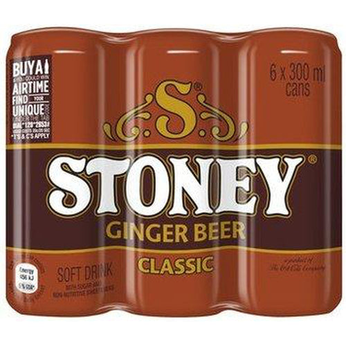 Stoney Gingerbeer 6x300ml Can-Colddrinks-South African Store London