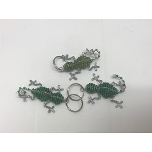 Beaded Lizard Keyring £3.95-African Beaded Decor-South African Store London