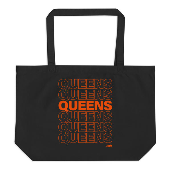 Queens Thank You large organic tote bag