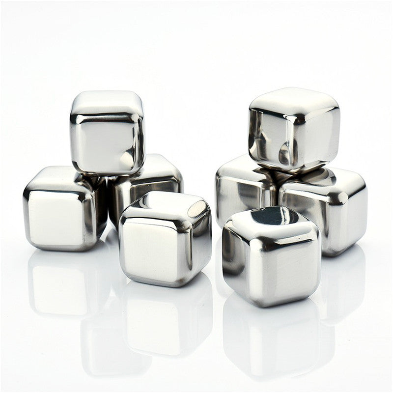 Stainless Steel Ice Cubes (PACK OF 8)