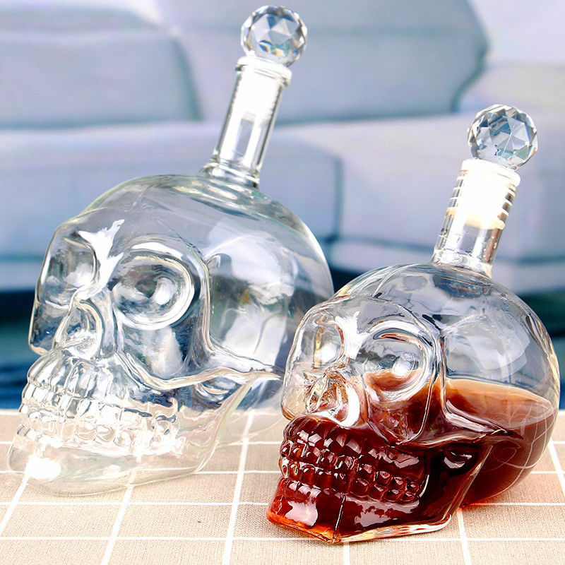Decanter Crystal Skull Head