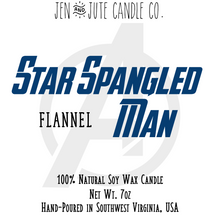 Load image into Gallery viewer, Star Spangled Man | an Infinity Heroes Candle