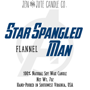 Star Spangled Man | an Infinity Heroes Candle