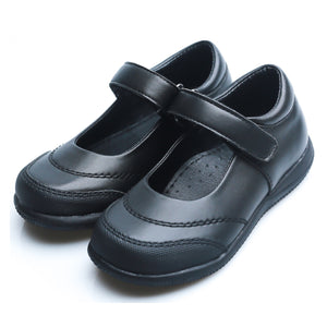 Little Girls School Uniform Black Shoes (synthetic leather)