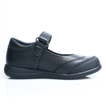 Load image into Gallery viewer, Little Girls School Uniform Black Shoes (synthetic leather)
