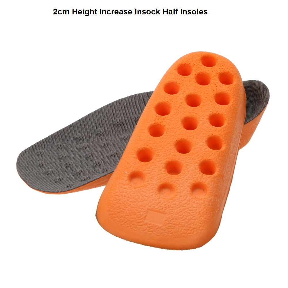 Heel Lift Height Increase Half Insoles