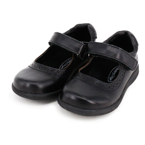 Toddler and Little Girl School Uniform Black Shoes (Genuine Leather)