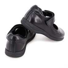 Load image into Gallery viewer, Toddler and Little Girl School Uniform Black Shoes (Genuine Leather)