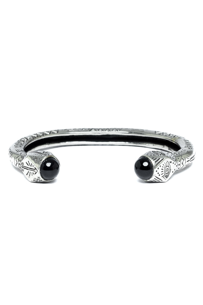 The Cayman Arrow Bangle - Silver Black|The Cayman Armreif - silber schwarz