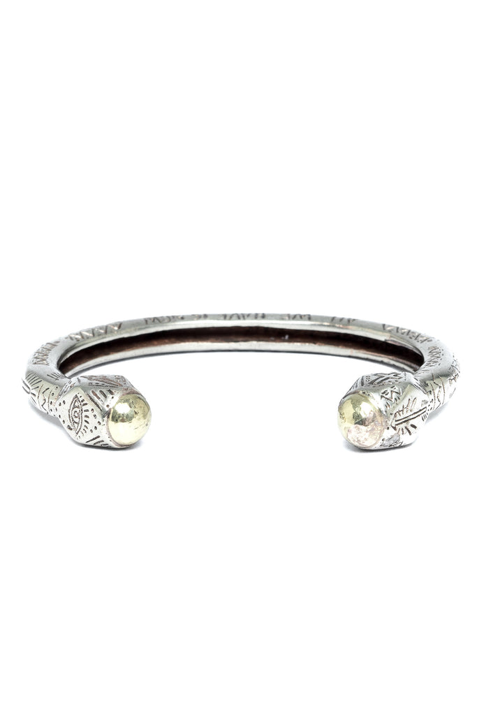 The Cayman Arrow Bangle - Silver Gold|The Cayman Armreif - silber gold