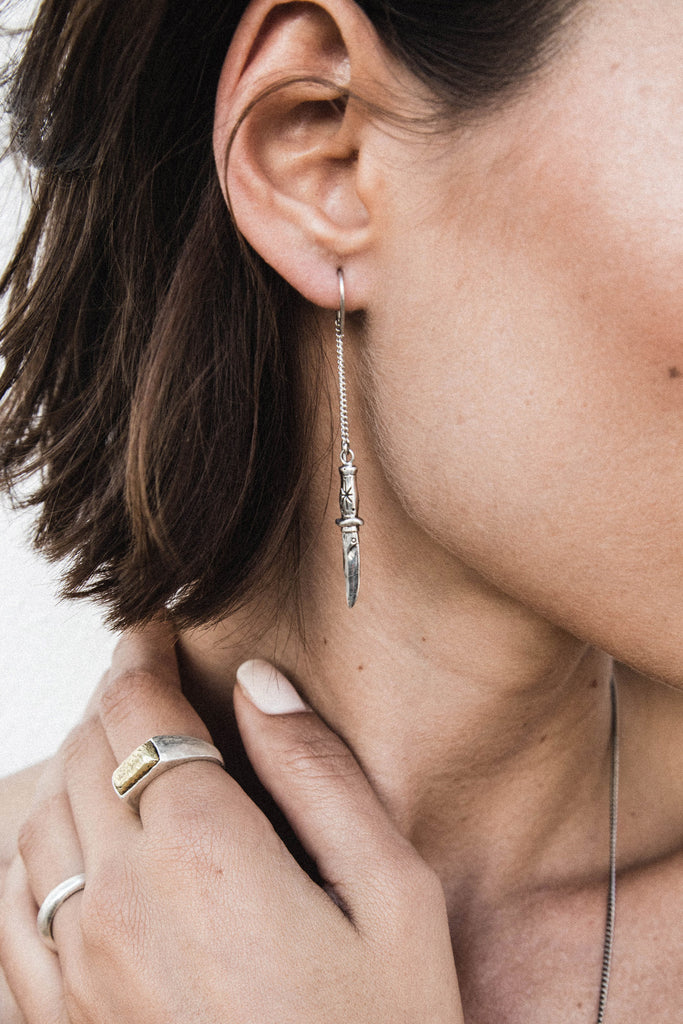 The Dagger Earrings - silver|The Dagger Ohrringe - silber