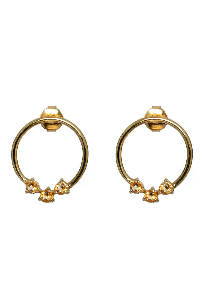 Lucy Earrings Citrine - gold|Lucy Ohrringe Citrin - gold