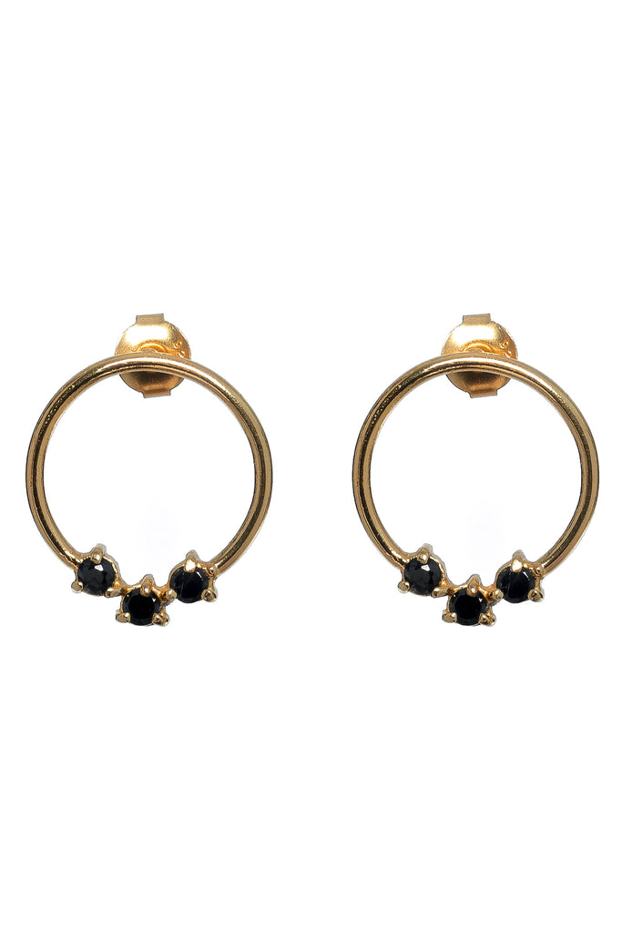 Lucy Earrings Onyx - gold|Lucy Ohrringe - gold