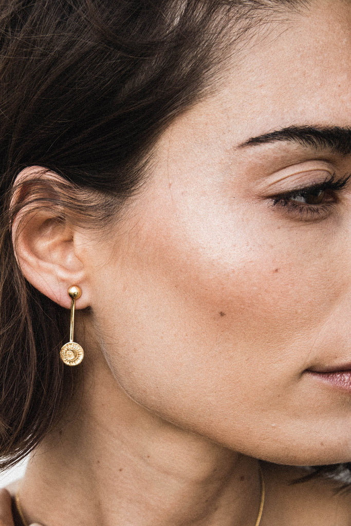 Sacred Sun Earrings - gold|Sacred Sun Ohrringe - gold