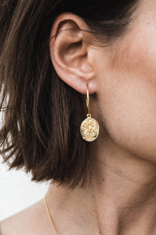 Wild Rose Earrings - gold