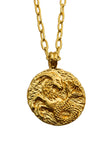 The golden Zodiac Necklace - Ambitious Capricorn|Gold Sternzeichen Halskette - Steinbock