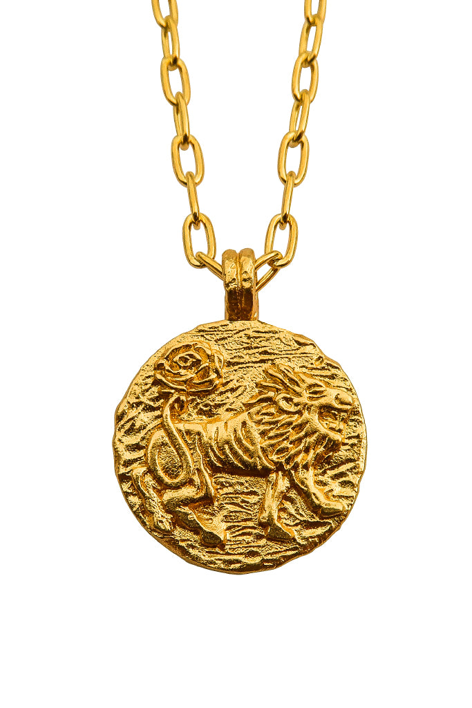 The golden Zodiac Necklace - Vivacious Leo|Gold Sternzeichen Halskette - Löwe