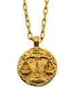 The golden Zodiac Necklace - Harmonious Libra|Gold Sternzeichen Halskette - Waage