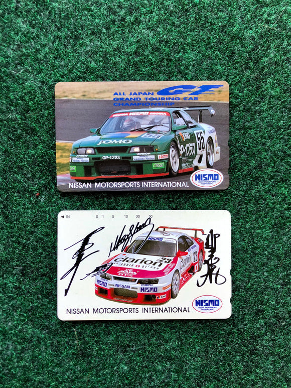 Nissan NISMO Prepaid Japan Telephone Card Set of 2 - JGTC Skyline R33 JOMO & Unisia