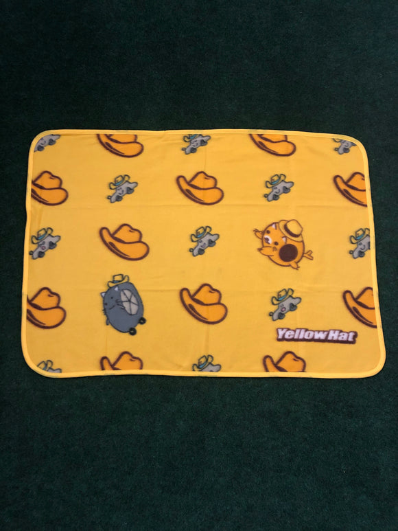 Yellow Hat Promotional Fleece Blanket